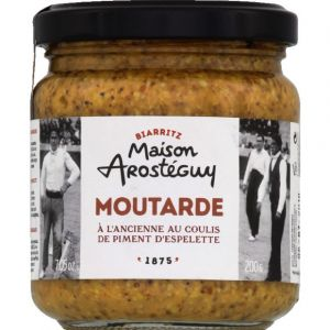Maison Arostéguy Moutarde à l'ancienne au coulis de piment d'Espelette