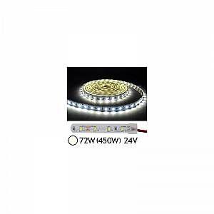 Vision-El Bandeau LED 72W (450W) 24V IP67 (Gaine silicone) Blanc jour 4000°K