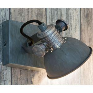 Steinhauer Applique et plafonnier LED, métal, gris, H 18 cm, BROOKLYN