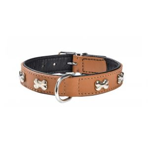 Bobby Collier Chien Cuir Extra Souple Camel
