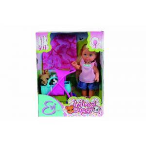 Simba Toys Poupée Evi Love poussette chiots