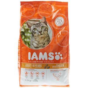 IAMS Croquette au Poulet pour Chat Adulte 1,5 kg