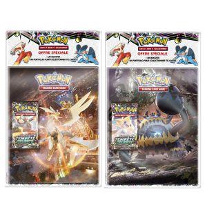 Asmodée Pack Pokémon SL07 Lune et Soleil Cahier range cartes et Booster