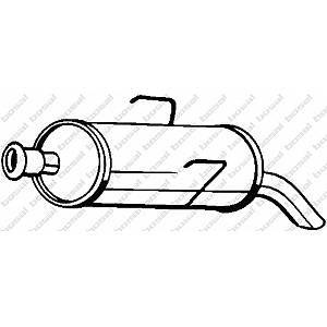 Bosal Silencieux Arrière 190-115