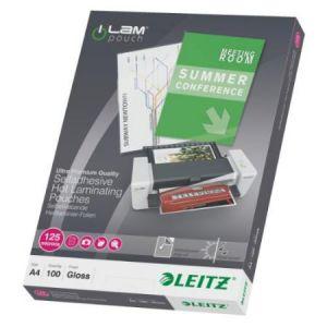 Leitz Pochette à plastifier A4, autocollant, 250 microns iLAM
