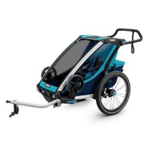 Thule Chariot Cross 1 Remorque vélo blue/poseidon Remorques pour enfant
