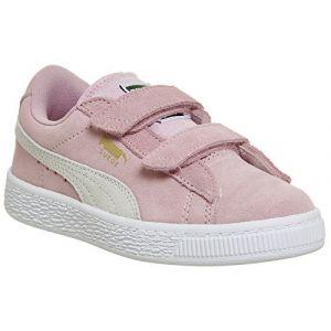 Puma Suede 2 Straps PS, Sneakers Basses Mixte Enfant, Rose (Pink Lady Team Gold 23), 33 EU
