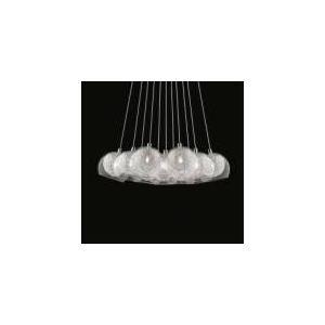 Suspension Cincin 11 ampoules en chrome et verre