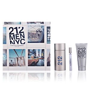 Carolina Herrera 212 NYC Men - Coffret eau de toilette, lotion après-rasage et miniature