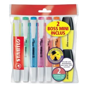 Stabilo Surligneurs Ecopack 6 Swing cool + 2 Mini Boss