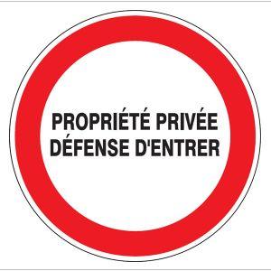 Taliaplast 627224 - Propriété privée défense d'entrer Ø 180 mm