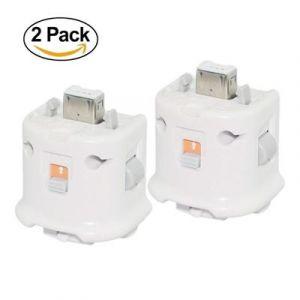 2x Motion Plus Adaptateur pour Nintendo Wii Remote Blanc