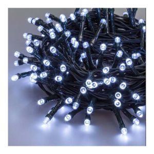 Lotti Guirlande lumineuse TL-C - 12,8 m - 320 LED blanc froid - Longueur : 12,8 m - 320 LED - 7 jeux de lumière + lumière fixe sélectionnables - Transformateur : 31 V