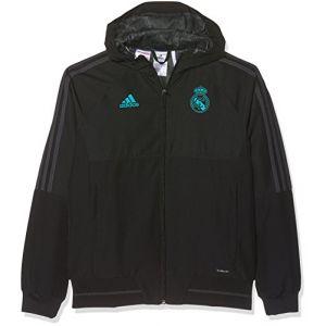 Adidas Veste de Présentation pour Real Madrid, Homme, Real Madrid Präsentationsjacke, Black/Solgre