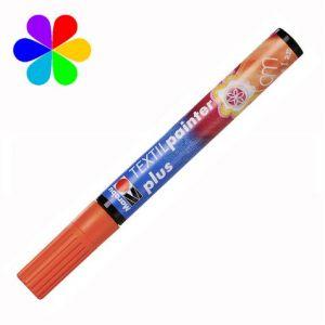 Marabu 011803013 - Marqueur pour tissu Textil Painter Plus, orange, pointe ogive 3 mm
