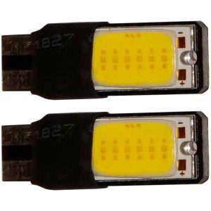Aerzetix : 2x ampoule T10 W5W 12V 2LED COB blanc effet xénon veilleuses éclairage intérieur seuils de porte plafonnier pieds lecteur de carte coffre compartiment moteur plaque d'immatriculation