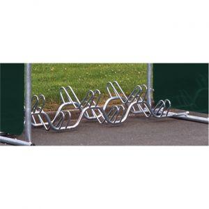 Mottez Râtelier range 6 vélos au sol sur 2 niveaux B134V