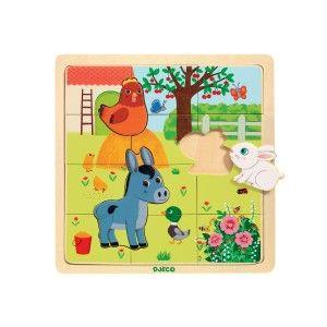 Djeco Puzzle en Bois - Puzzlo Farm