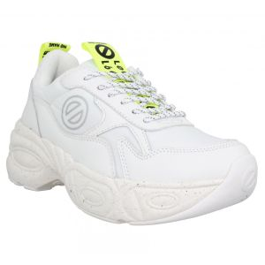 No Name Baskets Nitro Jogger toile cuir Femme Blanc blanc - Taille 36,37,38,40,35