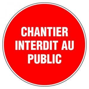 Novap Panneau de signalisation rond - Chantier interdit au public