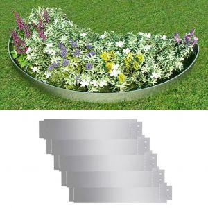 VidaXL Bordure de pelouse 5 pcs Acier galvanisé 100 x 20 cm