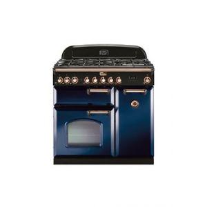 Falcon Piano de cuisson CLASSIC DELUXE MIXTE 90CM BLEU ROI/LAITON - CDL90DFRB/B-EU