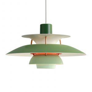 Louis Poulsen Suspension PH 5 Mini / Ø 30 cm vert en métal