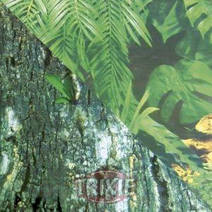 Trixie Mur arrière pour terrarium double face avec Tropic/motif écorce, 150 x 60 cm, Lot de 4