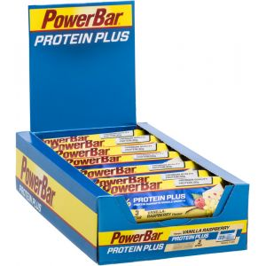 Powerbar Protein Plus 33 Vanilla / Raspberry Box 10 Units