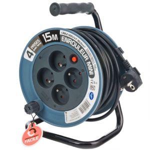 Enrouleur électrique 15 mètres 3x1mm - P. OUTILLAGE
