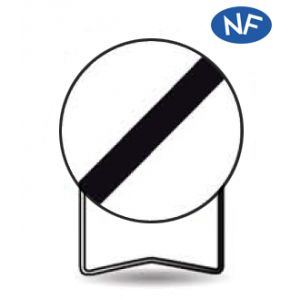Taliaplast 524020 - Panneau signalisation prescription b31 fin d'interdiction t1 850mm
