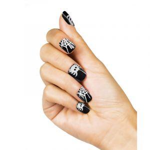 Boland Faux ongles adhésifs araignées femme Halloween Taille Unique