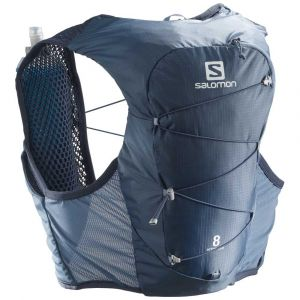 Salomon Active Skin 8 Kit sac à dos, copen blue/dark denim S Vestes & Ceintures d'hydratation