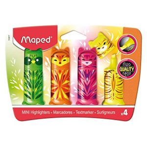 Maped Surligneurs Blister 4 Fluo'Peps Animaux