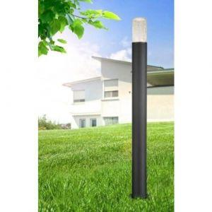 Globo Lighting Colonne extérieure en fonte d'aluminium anthracite - Verre craquelé