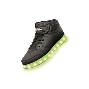 Yvolution Chaussures hautes LED Neon Kyx Noir