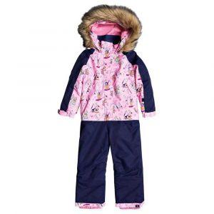 Roxy Paradise-Combinaison de Ski/Snowboard pour Fille 2-7 Ans, Prism Pink Snow Trip, FR : M (Taille Fabricant : 6/7)