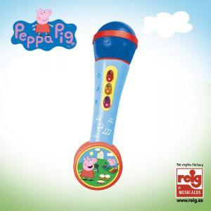 Reig Musicales Micro à main avec ampli Peppa Pig