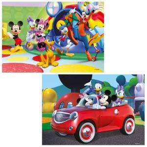 Ravensburger Puzzle 2 x 12 pièces : Mickey, Minnie et leurs amis