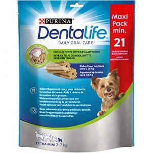 Purina DENTALIFE Extra Mini Bâtonnets à mâcher - Hygiène bucco-dentaire - Pour chien de très petite taille - 207 g