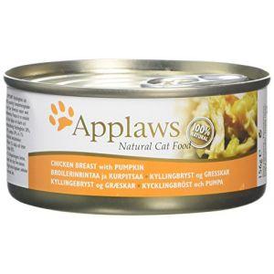 Applaws Nourriture pour chat Poitrine de poulet/potiron 156 g Lot de 24