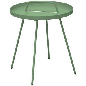 Proloisirs Table basse nomade en acier coloris amande Ø 51 H 44 cm