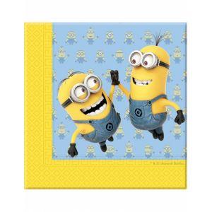 20 serviettes en papier Lovely Minions