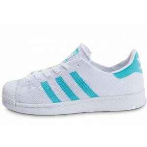 Adidas Superstar Mesh Blanche Et Turquoise