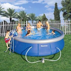 Bestway 57084 - Set piscine autoportante ronde Ø 457 x 107 cm
