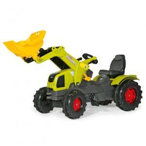 Rolly Toys Tracteur à pédales Claas Axos 340 avec chargeur