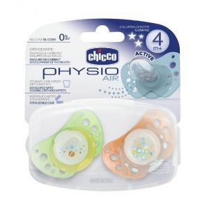 Chicco 2 sucettes Physio Air lumineuse en caoutchouc (4 mois +)