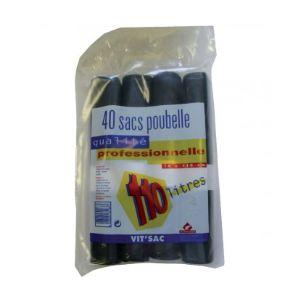 4 rouleaux de 10 sacs poubelles vrac gencodé (110 L)