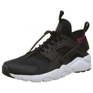 Nike Air Huarache Run Ultra (GG), Baskets Mixte Enfant, Noir (Black/Tea Berry-Black-White), 38.5 EU