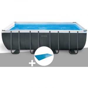 Intex Kit piscine tubulaire Ultra XTR Frame rectangulaire 5,49 x 2,74 x 1,32 m + Bâche à bulles